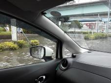 台風15号冠水